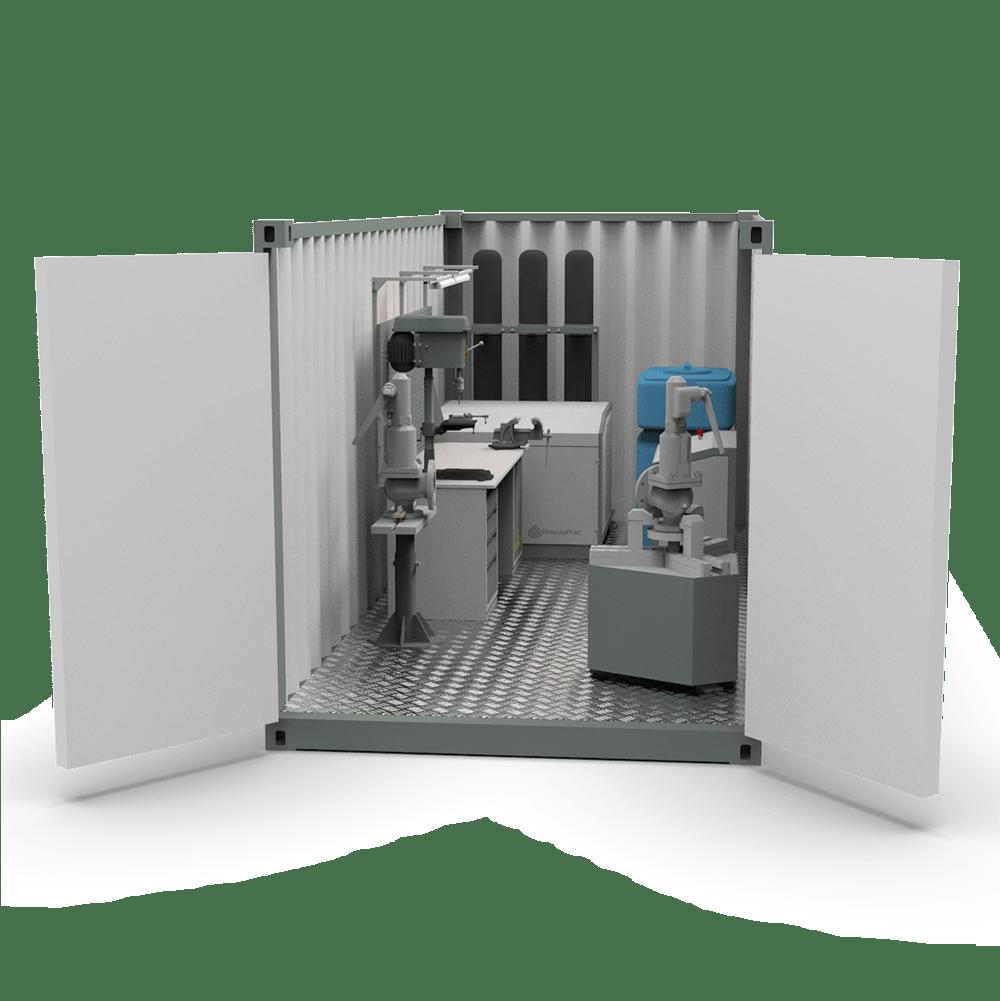 Мобильная мастерская для ремонта и обслуживания трубопроводной арматуры ПОБЕДИТ-ПМ