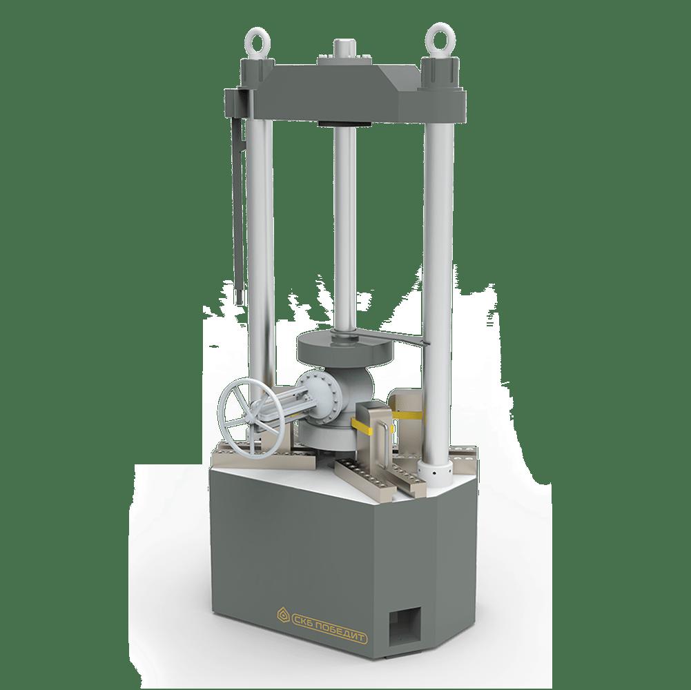 Вертикальные стенды для гидравлических и пневматических испытаний трубопроводной арматуры ПОБЕДИТ-С-2