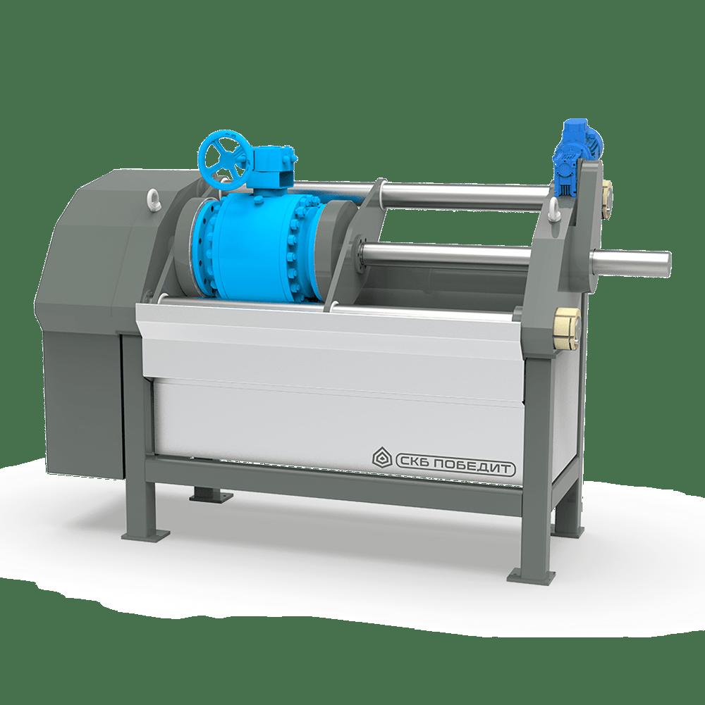 Горизонтальные стенды для гидравлических и пневматических испытаний трубопроводной арматуры ПОБЕДИТ-С-3