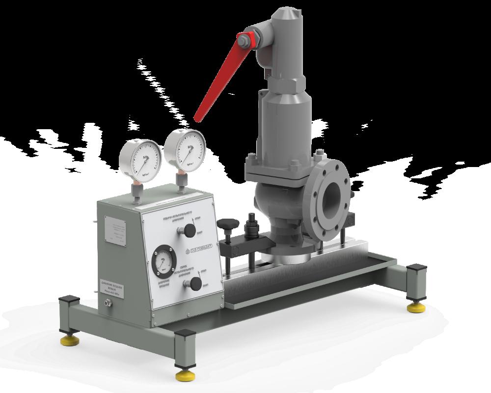 Стенд для испытаний и настройки предохранительных клапанов ПОБЕДИТ-С-1-100-5
