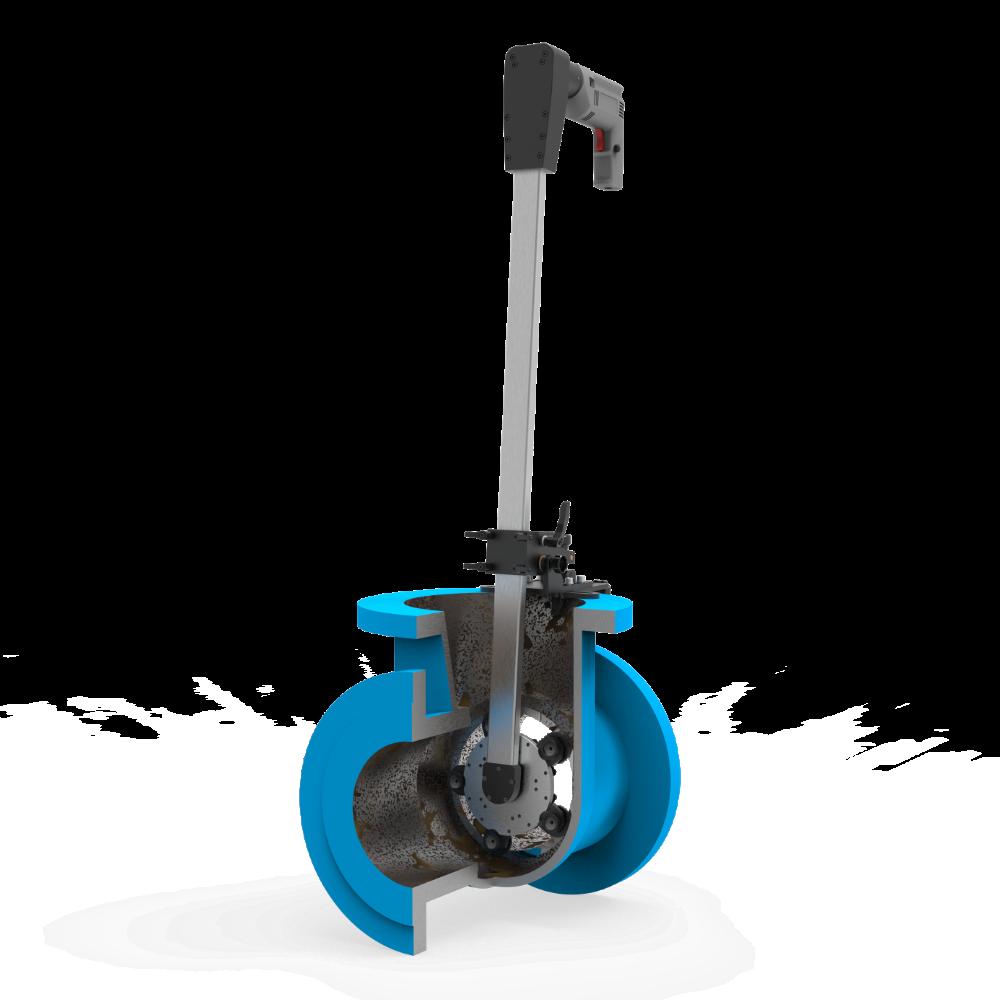 Станок переносной для шлифования и притирки уплотнительных поверхностей клиновых задвижек DN 40-350 мм ПОБЕДИТ-СПМ-1-350