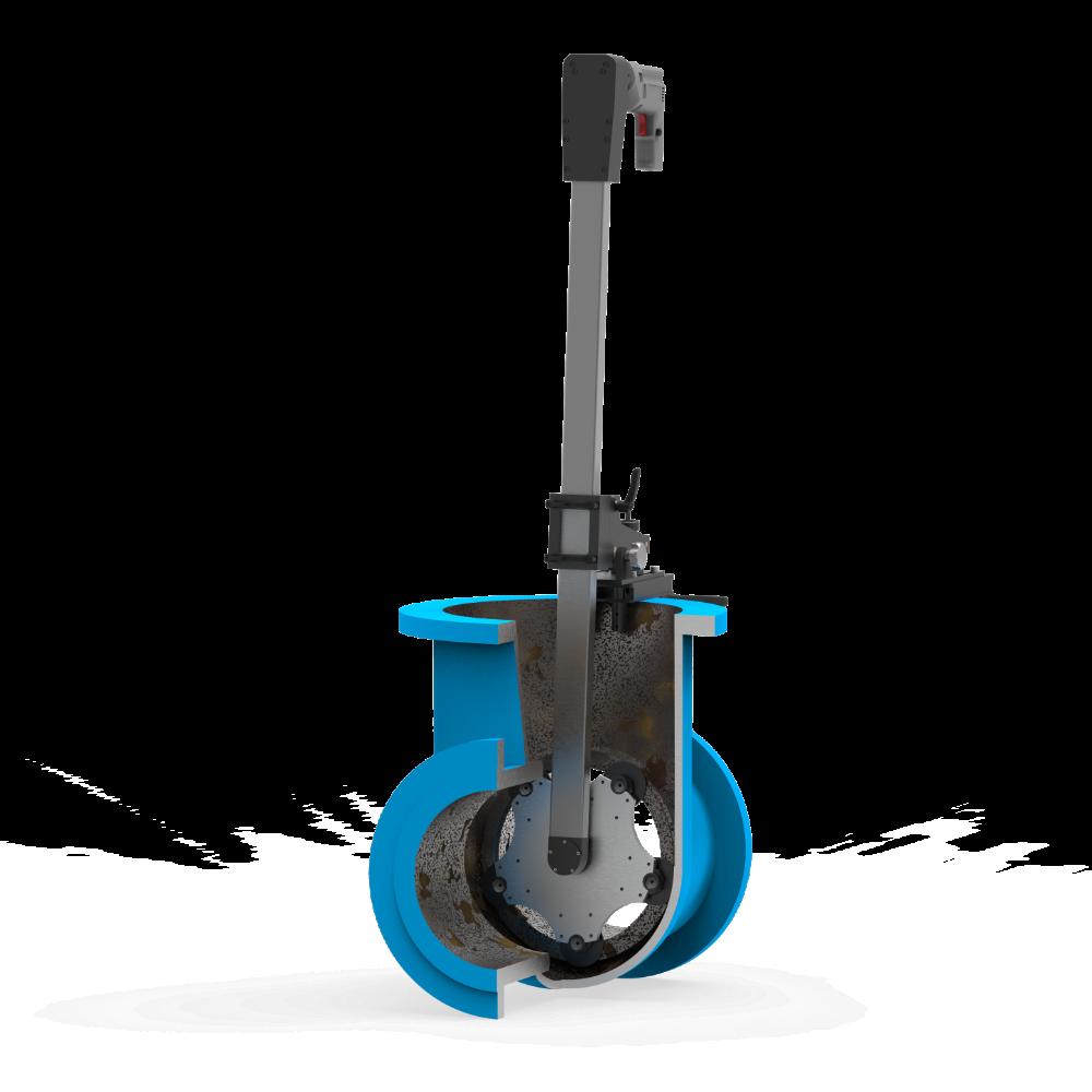 Станок переносной для шлифования и притирки уплотнительных поверхностей клиновых задвижек DN 200-600 мм ПОБЕДИТ-СПМ-1-600