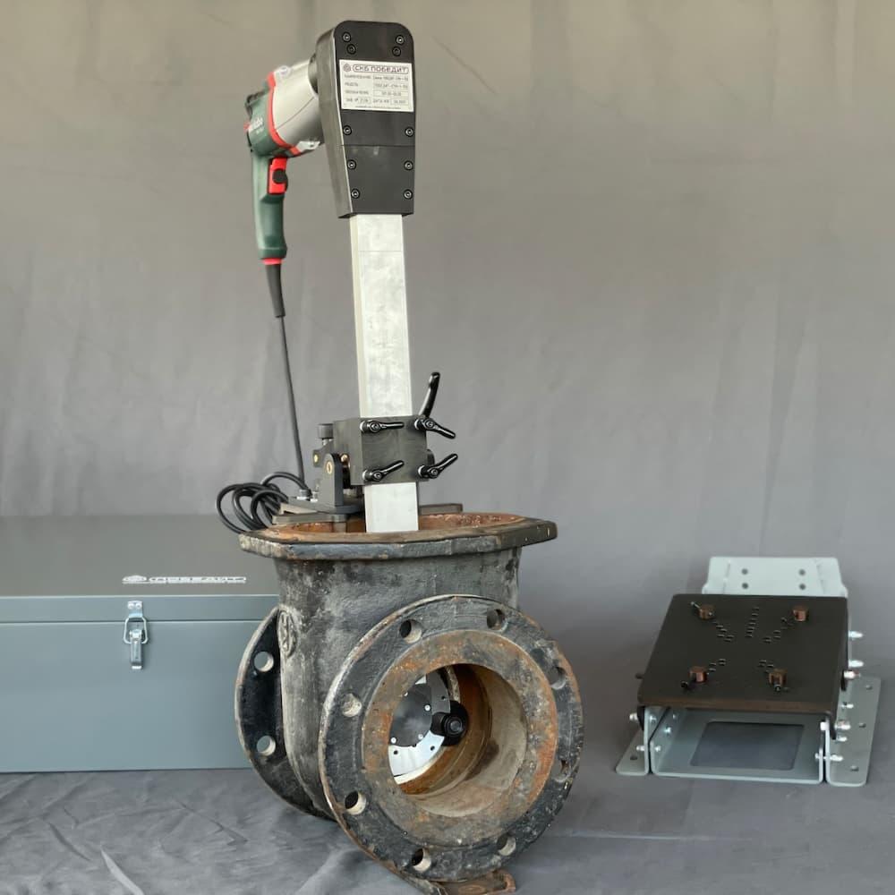 Переносные станки и притирочные машинки для шлифования и притирки трубопроводной арматуры